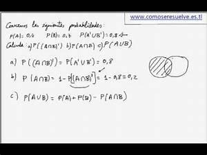 Calculo De Probabilidades Con Leyes De Morgan