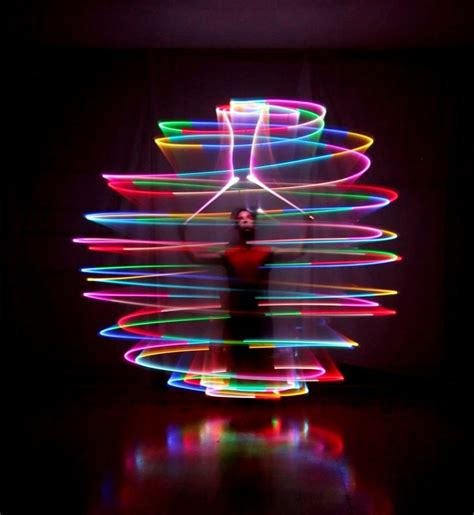 Flow Lights by Poi Led Wand Spinning Lights Make A Magical Rainbow