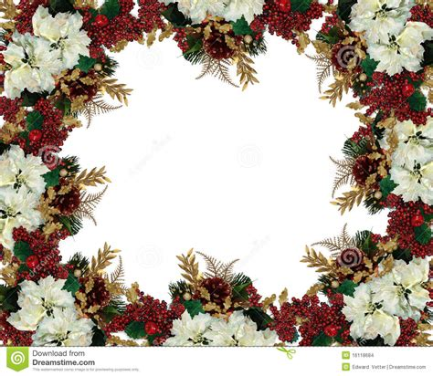 christmas border flowers stock images image