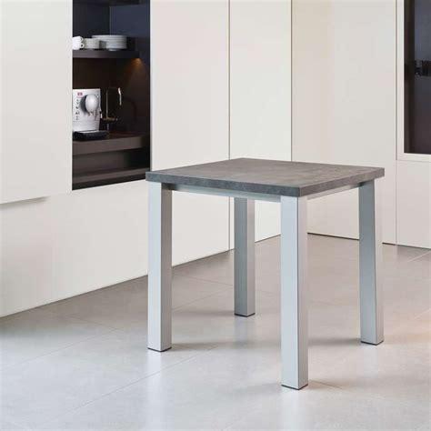 table de cuisine carrée en stratifié quadra 4 pieds