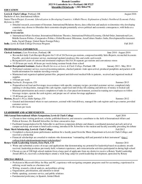 Fiscal Policy Analyst Resume by Senior Economist Resume