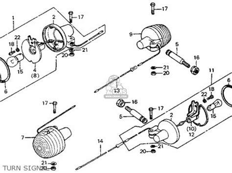 honda ct90 trail 1975 k6 usa parts lists and schematics
