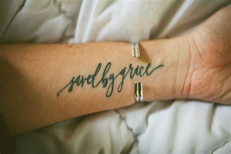 saved by grace | Grace tattoos, Tattoo quotes, Small tattoos