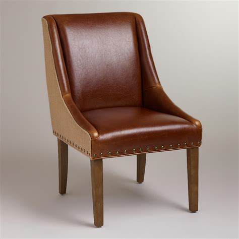 World Market Chairs Leather by Leather And Jute Wes Dining Chair World Market