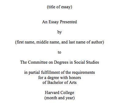 thesis format  committee  degrees  social studies