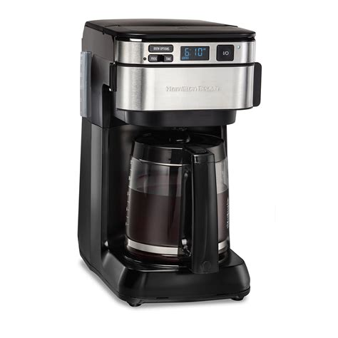 How to program hamilton beach 12 cup programmable coffee maker. Hamilton Beach 12-Cup Programmable Coffee Maker with Front-Fill & Swing-Out Basket, Black - 46310)