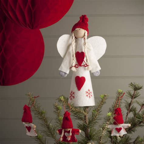 nordic tree topper angel by the christmas home