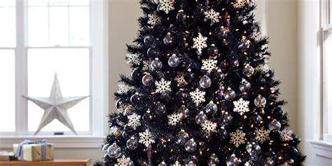 black christmas trees    holiday decor trend