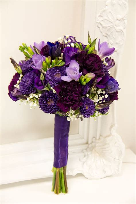 purple lavender wedding flowers images