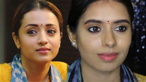 96 inspired makeup look south indian