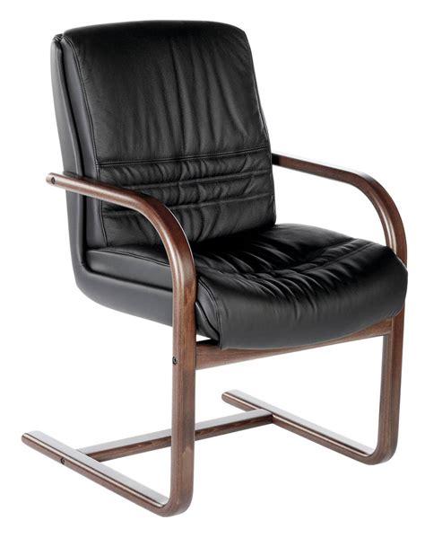 med lyon siege fauteuil visiteur cuir et bois lyon siege en bois et