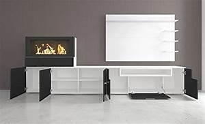 Wohnwand Mit Kamin : home innovation moderne wohnwand tv lowboard esszimmer mit kamin bioethanol ~ Frokenaadalensverden.com Haus und Dekorationen