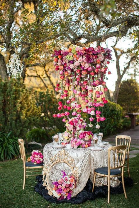 chandelier style table l tendances mariage original 2015