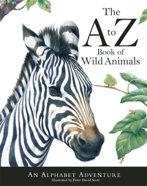 book  wild animals  alphabet adventure  peter david scott reviews