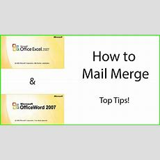 How To Mail Merge Using Microsoft Excel And Word Youtube