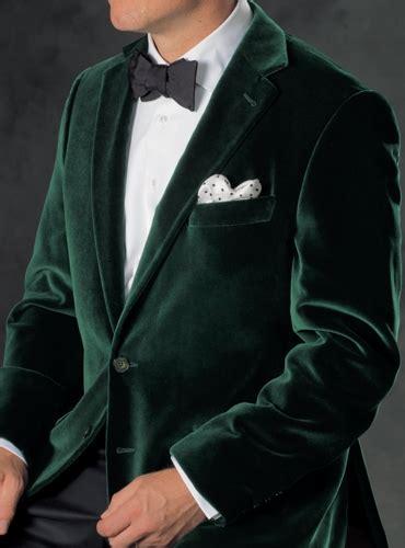 green velvet notch collar sport coat