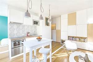 30m2 flat in paris richard guilbault archdaily for Deco cuisine pour table sejour