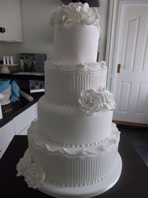 lily rose cake  white wedding cake