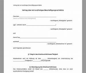 Abrechnung Kurzfristige Beschäftigung : muster arbeitsvertrag kurzfristige besch ftigung download ~ Themetempest.com Abrechnung