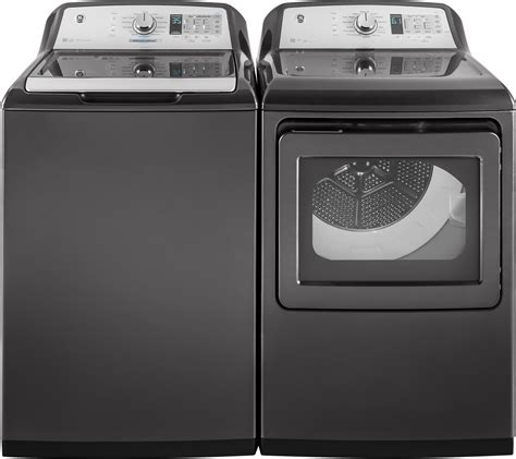 gtdecpldg ge  electric dryer  steam diamond gray