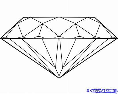 Diamonds Draw Diamond Coloring Drawing Pages Step