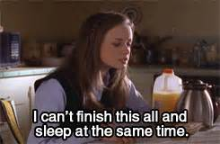 pretty sleep study finals studying exams gilmore girls ...