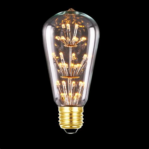 tanbaby 3w st64 led filament bulb e27 warm white edison