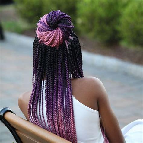 striking  purple braids  dark skin  natural hairstyles