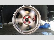 Bronze Mazda speed rims + red D1 spec lug nuts YouTube