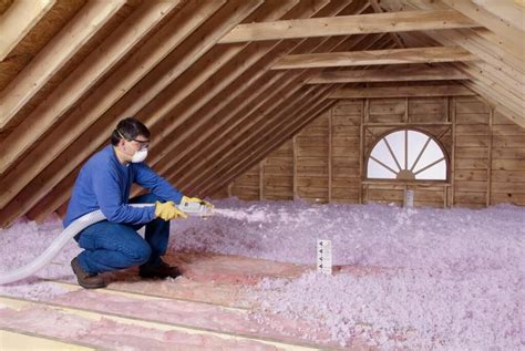 attic insulation cost guide estimate blown  insulation