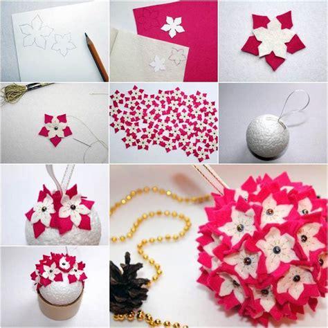 How To Use Cake Decorating Tips by Creative Ideas Diy Felt Flower Christmas Ball Ornament