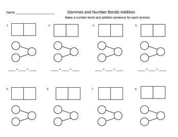 addition number bond templates  ideas singapore math