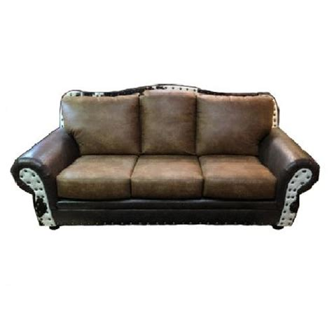 Cowhide Sofa by Palance Cowhide Sofa Set 4 State Rustic Furniture