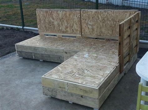 mobilier de jardin en palette de bois collection avec