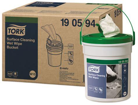 Tork Premium mitrās virsmas tīrīšanas salvetes spainī, 58 ...