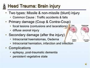 Pathology Of Head Injury