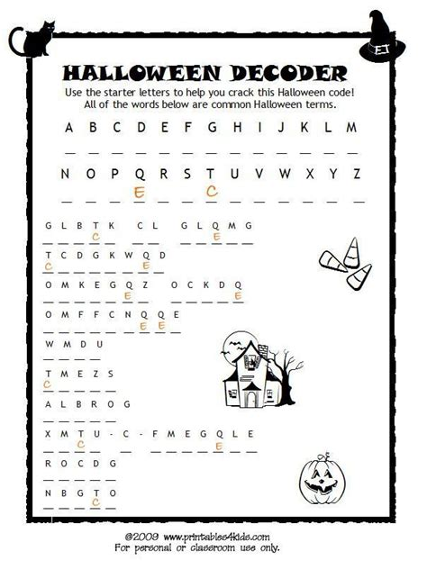 halloween code breaker cryptoquiz brain teaser