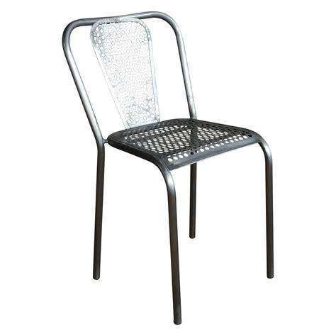 chaise de jardin grise chaise en métal grise style industriel demeure et jardin