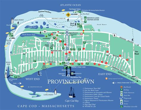 Provincetown Map Provincetown Chamber Of Commerce Inc