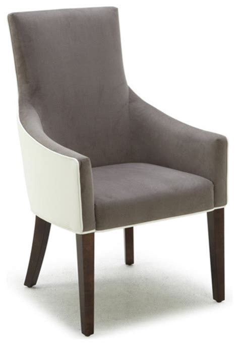 sunpan vincent grey ivory bonded leather armchair