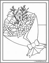Coloring Bouquet Floral Pdf Sheet sketch template