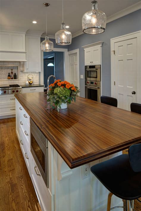 Sapele Mahogany Kitchen Island Top Designed By Drury Design