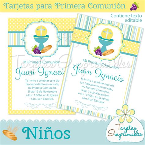 tarjetas para primera comuni 243 n para varones https www tarjetasimprimibles