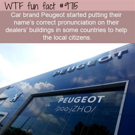 Peugeot Pronunciation by Car Brand Peugeot Started Putting Their Name S