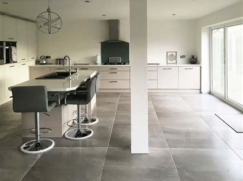 Advance Grey Concrete Effect Floor Tile   Floor Tiles from