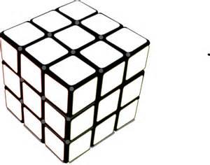 Black and White Rubik's Cube