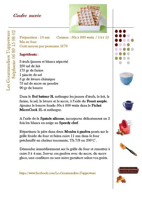 gauffrier tupperware recettes recherche gaufres