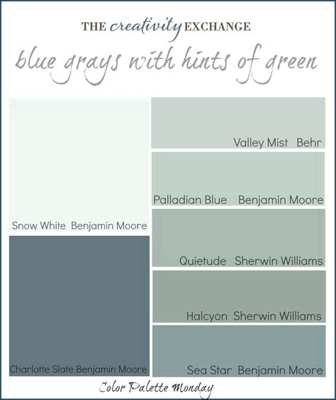 palladium blue color palette for the home
