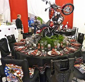 Harley Davidson Centerpieces Cake Ideas and Designs