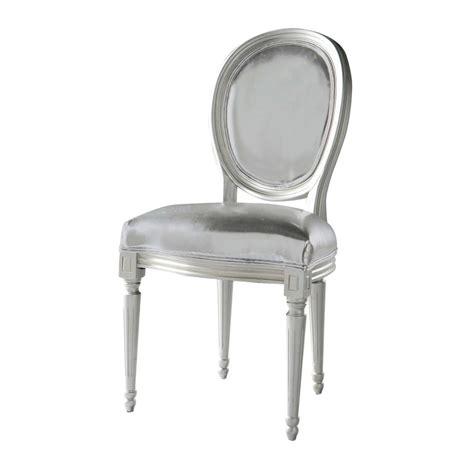 chaise louis maison du monde chaise médaillon en textile enduit argent louis maisons du monde